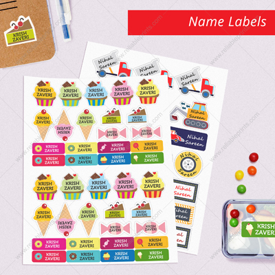 Sticky Peel & Stick Name Labels