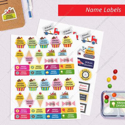 Sticky Peel & Stick Name Labels