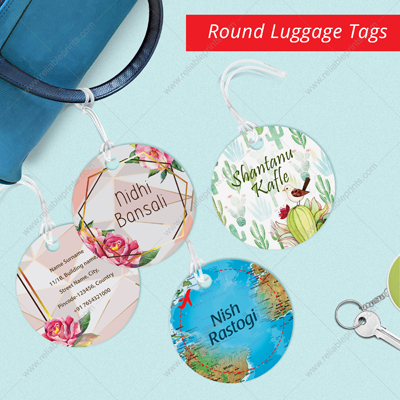 Round Luggage Tags (Set of 4)