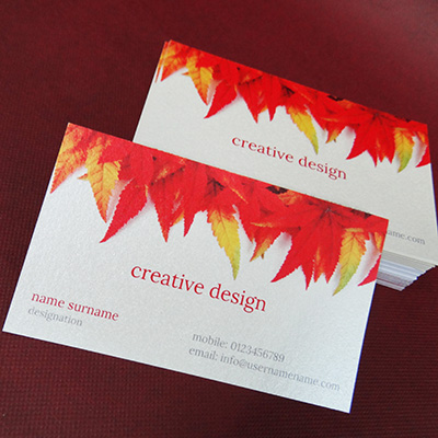 Metallic Business Cards Printing Online Double Sided Business